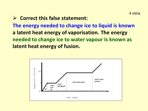 LATENT HEAT OF FUSION PRACTICAL, KS4, Physics, New GCSE Specification