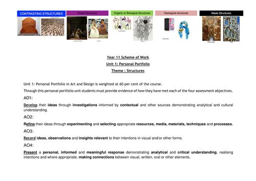 Scheme of Work, SOW, Year 11 GCSE, Structures