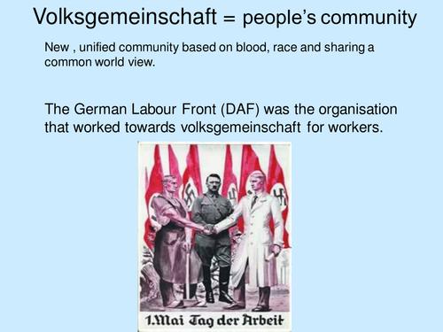 Nazi Germany A'Level resources **Bundle**