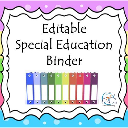 Special Education Binder {Editable} IEP Binder