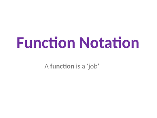 Function Notation by MrJWright Teaching Resources Tes – Function Notation Worksheets