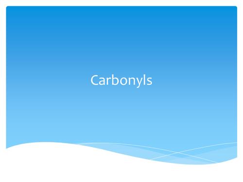 Aldehydes, Ketones, Carboxylic acids and Acylation
