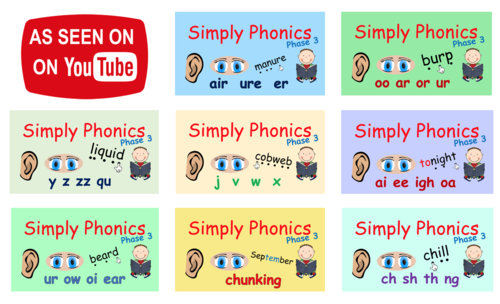 Phase 3 Phonics - The Complete Set of Presentations