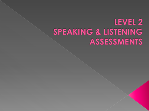 Level 2 Functional Skills Speaking and Listening - Discussion and Presentations
