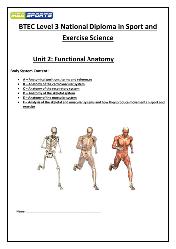 2016 New spec - Level 3 BTEC Sport and Exercise Science Unit 2 ...