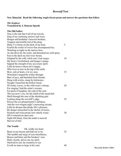 the seafarer poem analysis