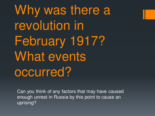 February 1917 Russian Revolution - causes and events.