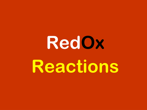 AQA A-level / AS Redox reactions, oxidising & reducing agents, working with half equations