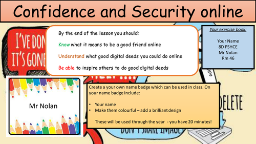 Confidence and Security Online