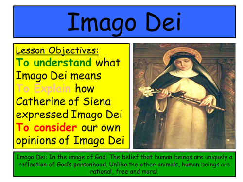 2016 RE GCSE: EDUQAS Route B. Theme 1, Origins and Meaning: Imago Dei and St Catherine of Siena