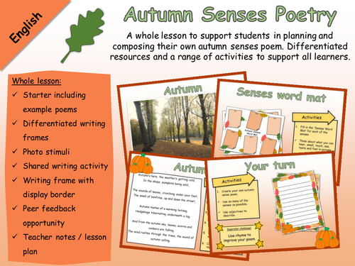 English - Poetry - Autumn Senses Poem