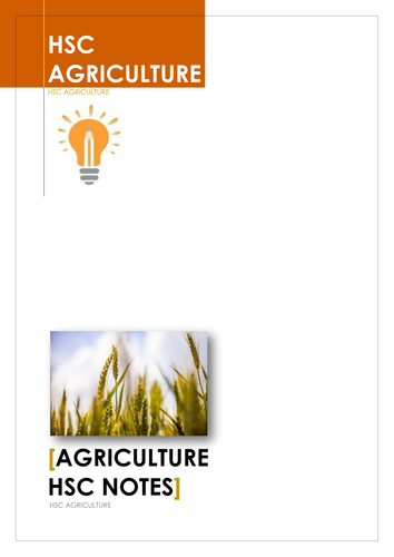 HSC Agriculture Revision Notes