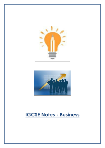 IGCSE Business Notes
