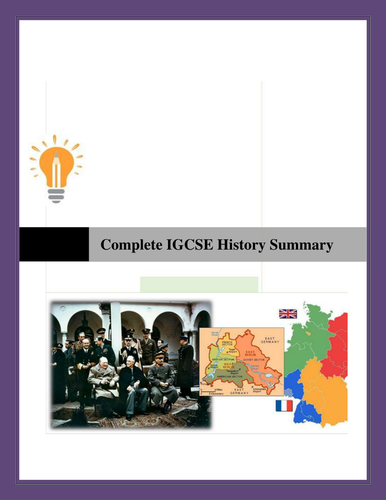 Complete IGCSE History Summary Revision Notes