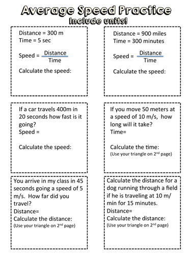 Star Wars Science - Speed = Distance / Time