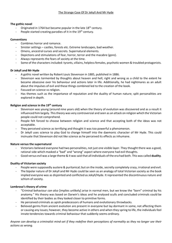 essay on dr jekyll and mr hyde exam style practice questions for aqa gcse english literature of resource thumbnail the strange case of