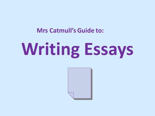 GCSE Writing English Literature essay PPT