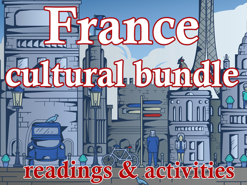 French cultural activities Bundle