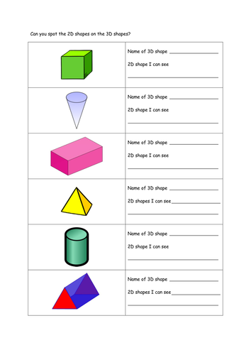 Identify 2D shapes as faces on 3D shapes