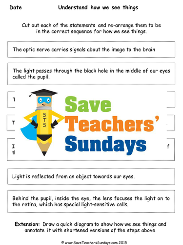 how we see things ks2 lesson plan and worksheet by saveteacherssundays teaching resources tes. Black Bedroom Furniture Sets. Home Design Ideas