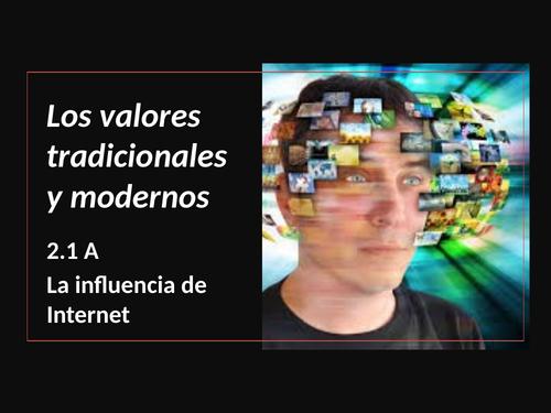 A Level Spanish AQA Influencia de Internet