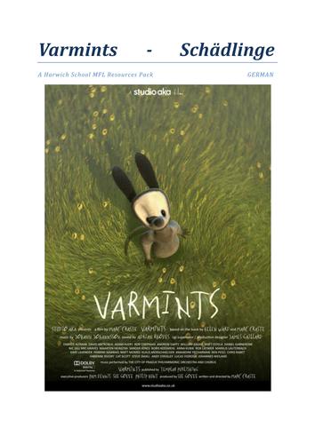 Varmints German Activity Booklet