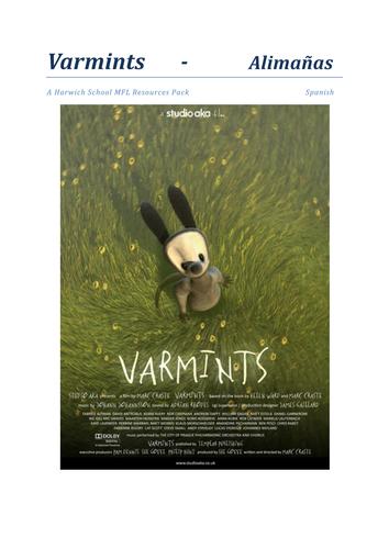 Varmints Spanish Activity Booklet