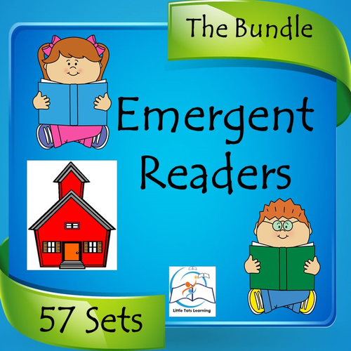 Emergent Readers BUNDLE (Kindergarten Sight Words and Alphabet Readers)