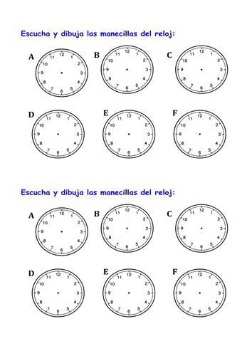 KS3 Spanish - Qué hora es / What\'s the time? by tcnewman - Teaching ...