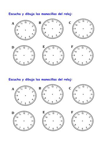 KS3 Spanish - Qué hora es / What's the time?