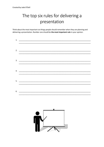 An introduction to presentation skills, with YouTube video clips.