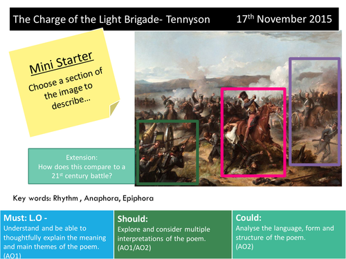 charge of the light brigade conflict essay Free essay: analysis of the charge of the light brigade this particular poem deals with the unfortunate mistake of battle of balaclava in 1854 in an attempt.