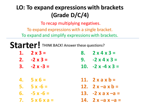 Expanding and Factorising! (Single and double brackets, Linear and quadratic equations)