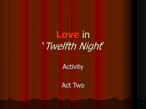 Theme of Love in William Shakespeare's Twelfth Night