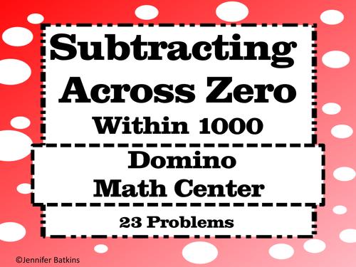 Subtracting Across Zero Math Station Activity by msbatkinsclass – Subtracting Across Zeros Worksheets