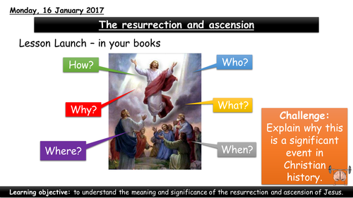 The resurrection and ascension