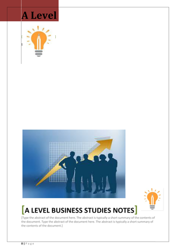 A Level Business Notes