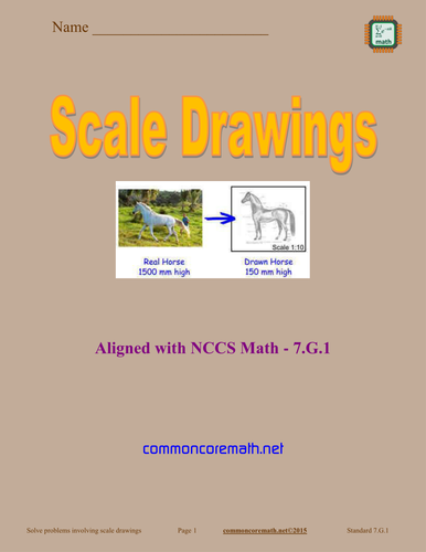 Scale Drawings - 7.G.1