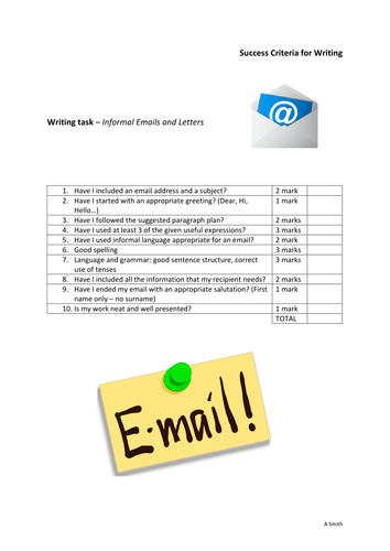 Success criteria for writing an informal emailbiographyarticle success criteria for writing an informal emailbiographyarticle by amandasmith80 teaching resources tes altavistaventures Image collections
