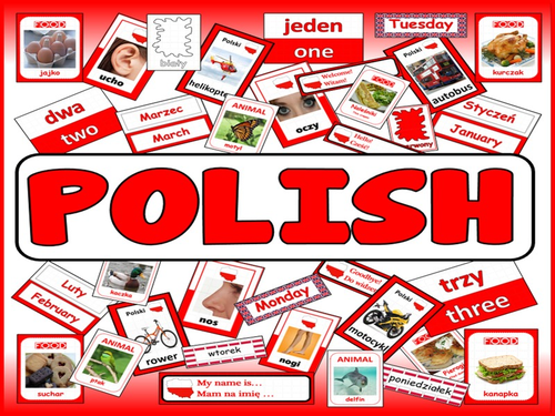 POLISH LANGUAGE TEACHING RESOURCES display posters flashcards colours food