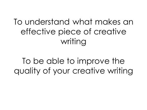 Exam Style Creative Writing