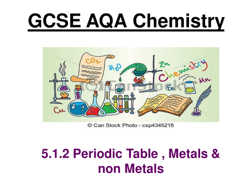 New AQA Chemistry 5.1.2 The periodic table, metals & non-metals 2017