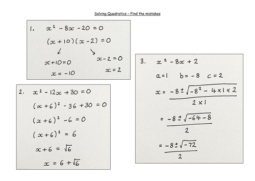 Deciding which method to use to solve a quadratic