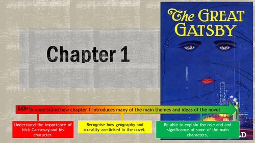 AQA GCE Literature B - 'The Great Gatsby' chapter 1 PPT