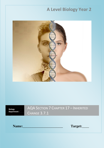 AQA New Specification A-Level Year 2 Chapter 3.7.1 Inherited Change Full Unit 9 lessons
