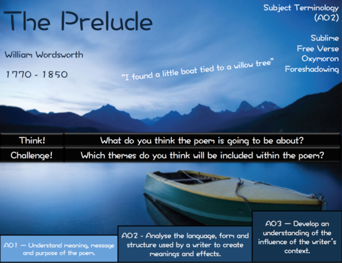 AQA Poetry - Power and Conflict - The Power of Nature Bundle + 1 FREE LESSON