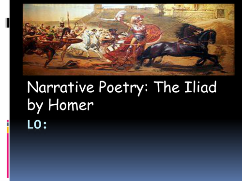 Ancient Greece Topic Poetry linked to Homer's 'Iliad' Year 5