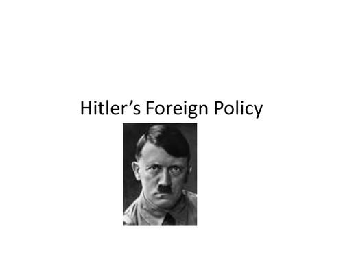 hitlers foreign policy and the treaty German-soviet nonaggression pact: german-soviet treaty of nonaggression, hitler-stalin pact  who soon began negotiations with the nazi foreign minister.