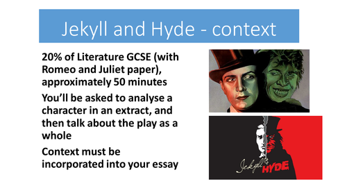 Jekyll and Hyde - full  resources for AQA 9-1