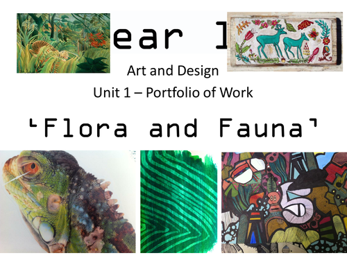 Flora & Fauna - KS4 GCSE Unit of Work - Concertina Sketchbook - Drawing, Animals, 3D, AQA